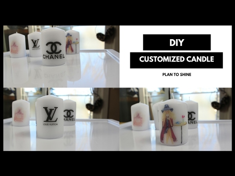 DIY Dollar Store printed candles | How to adhere any picture to candles | Plan to Shine