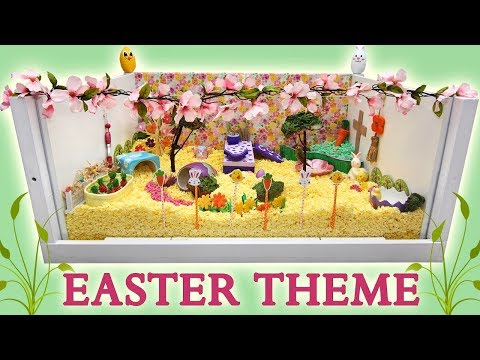 EASTER / SPRING Hamster Cage Theme! (Kashi's Playcage)