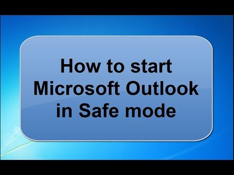 How to start Microsoft outlook in Safe mode