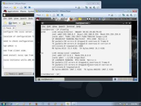 How to configure iscsi server in RHEL 6 4