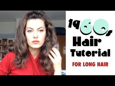 Easy 1960s Hair Tutorial (for long hair)⎜VINTAGE TIPS & TRICKS