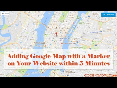 Add Google Map with Marker to Website