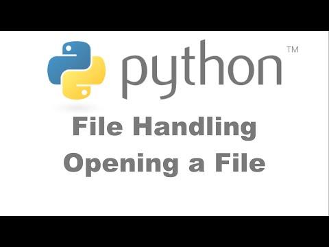 File Handling Opening Files in Python [HD 1080p]