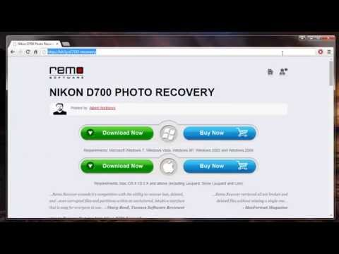 How to Recover Deleted Photos from Nikon D700