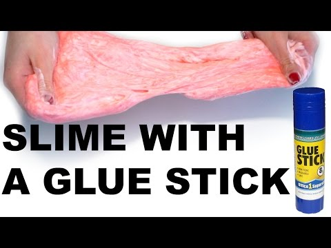 HOW TO MAKE SLIME WITH GLUE STICK! WITHOUT BORAX,DETERGENT,CORNSTARCH!