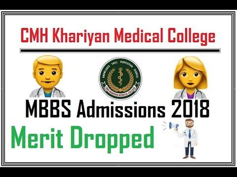 2nd Merit List of CMH Khariyan Medical College (MBBS 2018)