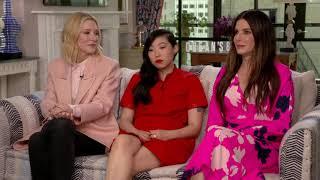 Sandra Bullock brings up a Brad Pitt catfight & Cate Blanchett teaches Awkwafina genetics