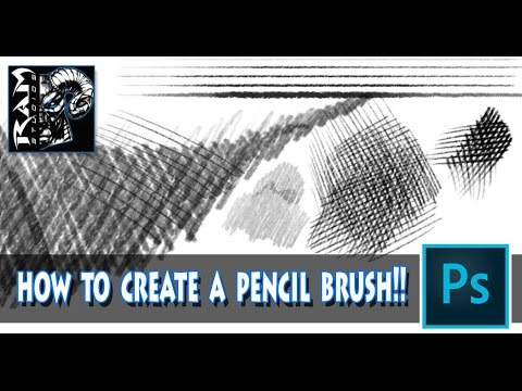 How to Create a Pencil Brush In Photoshop CC  - Tutorial - Narrated