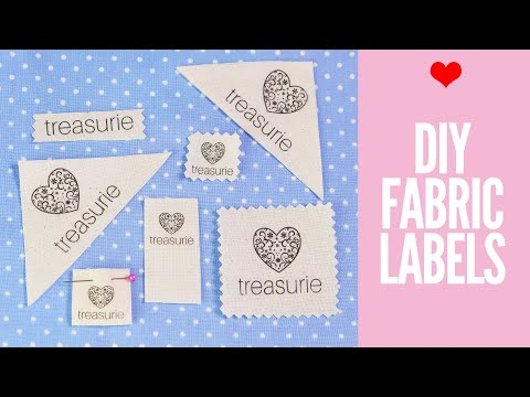 Make your own Clothing Labels: DIY Fabric Labels
