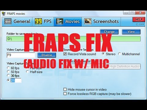 How to Fix Your Fraps Microphone Audio! (Bad Quality Mic Fix)