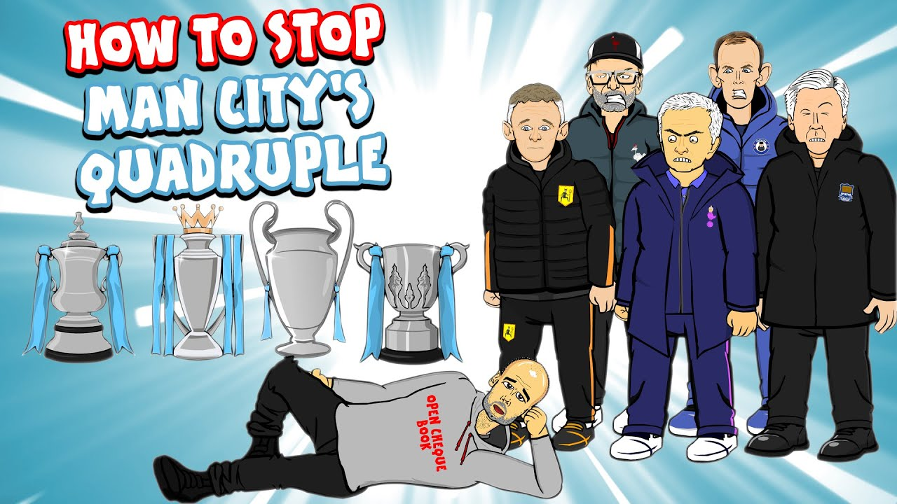 🚫HOW TO STOP MAN CITY'S QUADRUPLE!🚫 Feat Klopp, Mourinho, Solskjaer, Tuchel & more!