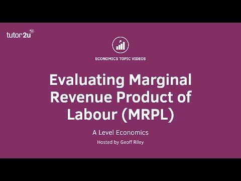 Evaluating Marginal Revenue Product of Labour