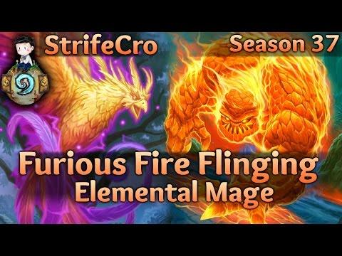 Hearthstone Elemental Mage: Furious Fire Flinging