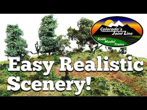 How to Make Realistic Scenery for Model Train Layouts & Dioramas