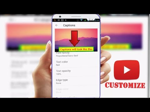 How to Customize Youtube Videos Captions in Android