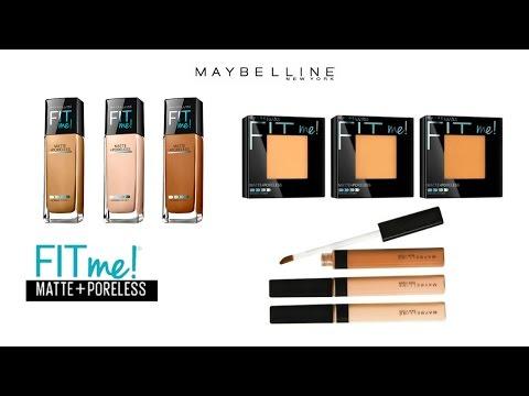 REVIEW ♥ DEMO ♥ WEAR TEST | Maybelline Fit Me! Matte + Poreless Foundation, Powder & Concealer