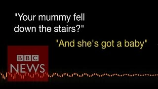 Listen to 3 year old's emergency call after pregnant mum falls down stairs - BBC News