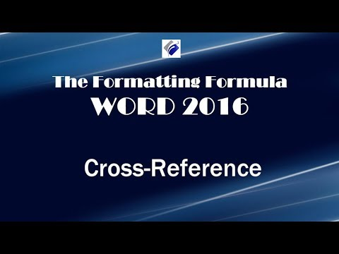 Word 2016   Cross References
