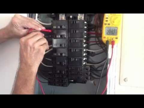 Check Voltage on Single Phase Panel