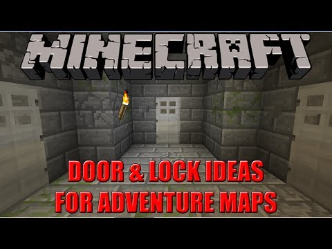 DOOR & LOCK IDEAS FOR ADVENTURE MAPS | Minecraft Tutorial