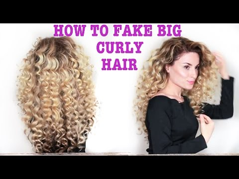 How To Fake BIG Naturally Curly Hair! (with subs)
