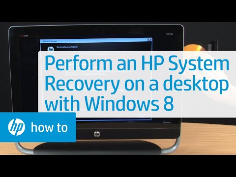 Performing an HP System Recovery on an HP Desktop PC with Windows 8