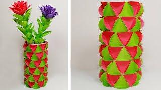 Making Paper Flower Vase How To Make A Flower Vase At Home