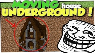 Burying A Players House Under Dirt minecraft Trolling Ep 115
