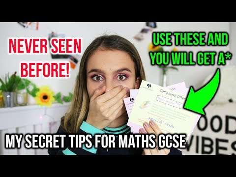 HOW TO GET AN A*/9 IN MATHS!! How I revised for my maths GCSE after being predicted to fail! Lovevie