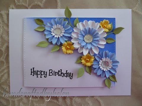 Handmade daisies card