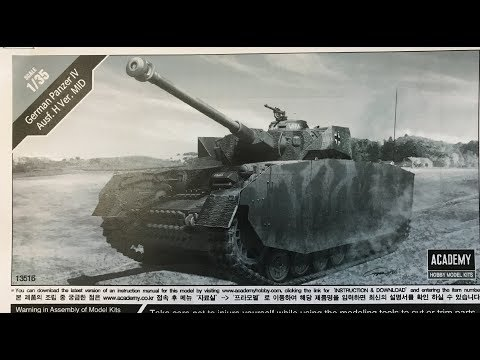 Taking a look at the  new Academy 1/35 Panzer IV  ausf H plus Panda Models new kits