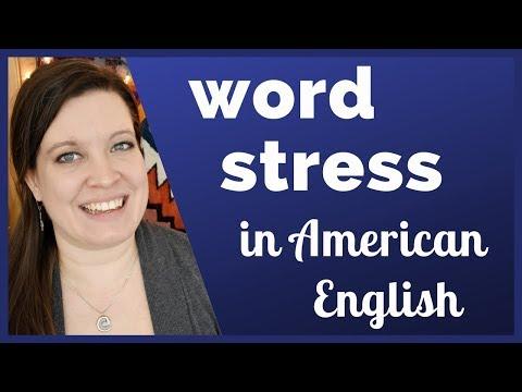 Word Stress in American English | English Rhythm for Clear Pronunciation | Syllable Stress