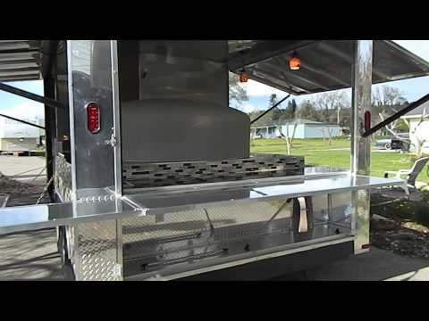 Custom Wood Fired Pizza Trailer