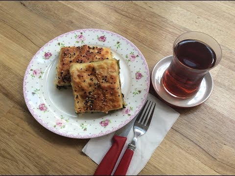 TURKISH SPINACH PIE RECIPE, AEGEAN STYLE - Ege Usulü Ispanaklı Börek