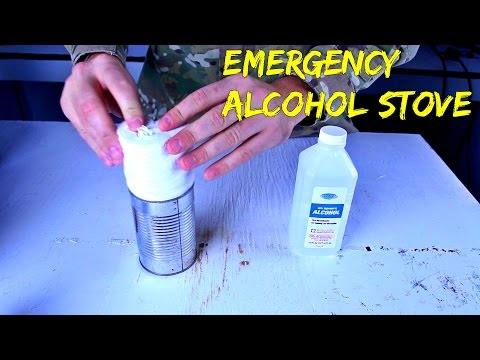 Emergency Alcohol Stove from Toilet Paper and Can