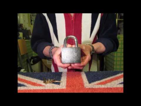 HUGE American 790 Padlock Sent To Me By Jerry Welch And Showing My American Lock Collection