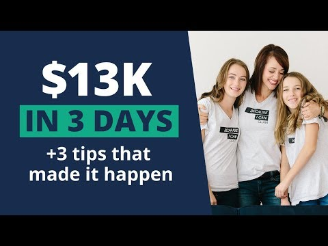$13k + 3 days + 3 Tips that I use to make it happen!  Alison Prince | 0-$100k
