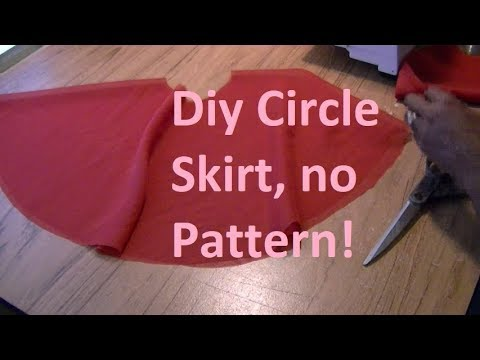 DIY Circle Skirt  No Pattern Needed!