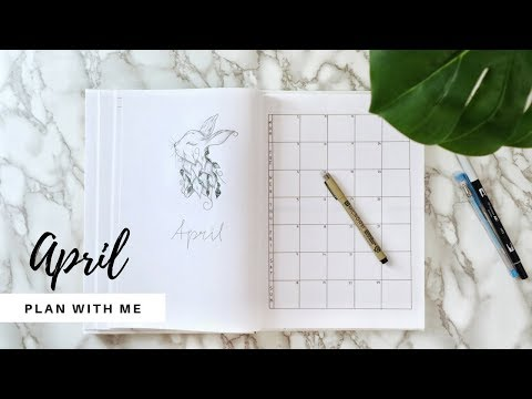 April Bujo Setup | Plan with me | Minimal Bullet Journal