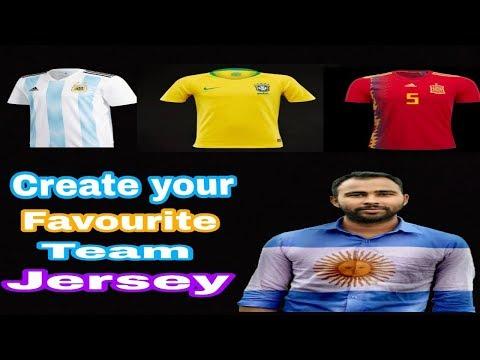 নিজের shirt এ  তৈরি করুন পছন্দের football টীমের jersey।। By Shipon।।