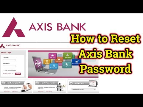 How to Reset Axis internet Bank Password | Axis Bank Forgot Password | Axis Bank Change Password