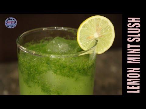LEMON MINT SLUSH-SUMMER DRINK RECIPE-TASTY  MINT SLUSH BY HAFSA