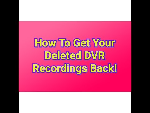 How To Recover Deleted DVR Recordings On Dish