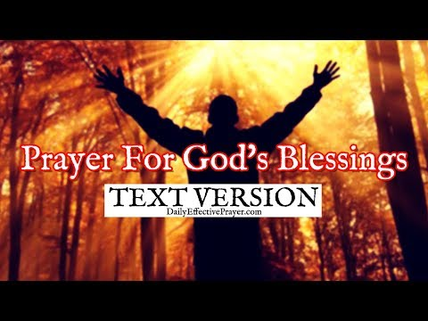 Prayer For God's Blessings (Text Version - No Sound)