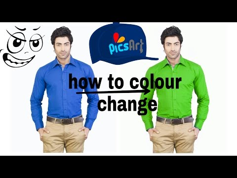how to change a clothes color in PicsArt