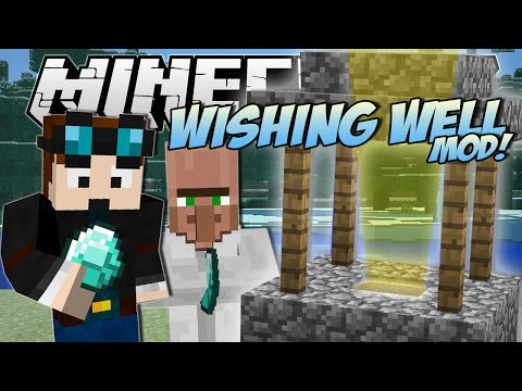 Minecraft   WISHING WELL MOD! (Riches, Lucky Villagers, Blocks & More!)   Mod Showcase