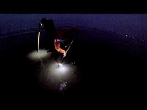 Razor Clam Digging at Night