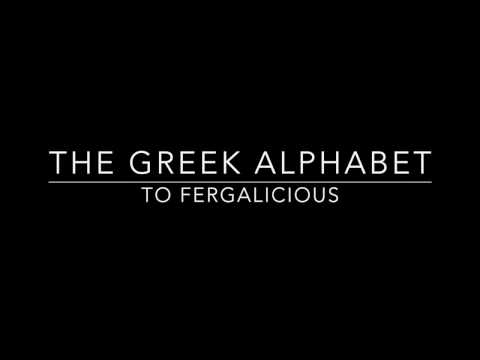 Greek Alphabet to Fergalicious