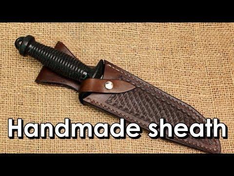 Making a leather sheath knife
