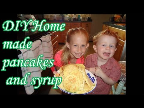 DIY Home made pancakes and syrup